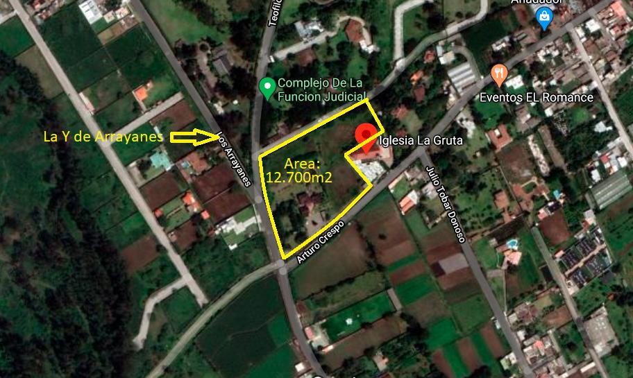 Terreno 12.700m2 en Puembo La Y de Arrayanes Residencial, cerca de Iglesia Gruta