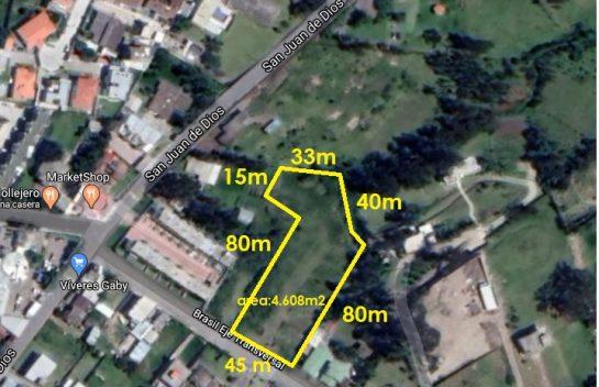 Lote de terreno en venta en San Rafael, 4.608 m2, cerca de la Av. Ilaló