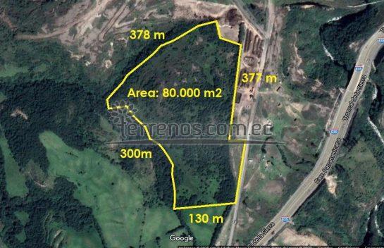 Terreno de Venta en Pifo, 80.000 m2, autopista E35, Pintag, parque industrial