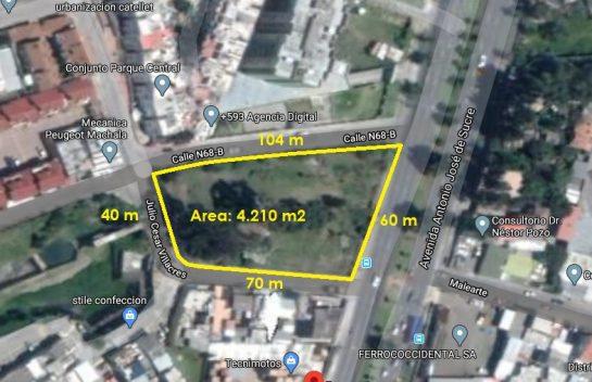 Lote de terreno de venta sector El Condado, 4.210 m2, sobre La Occidental con 4 frentes