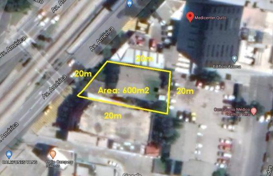 Venta de Terreno, Sector la Y 600 m2, Av. América