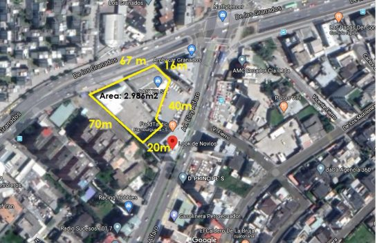 Venta de Terrenos , Granados 1.496 m2 cerca a la UDLA, Eloy Alfaro