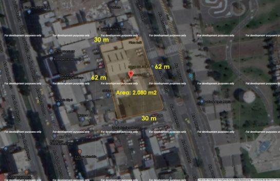 Terrenos de venta av. Amazonas 2.080 m2, frente al Parque Bicentenario