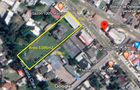 Terreno en Venta Los Chillos 3.086 m2, General Rumiñahui, Diagonal Pollo Gus