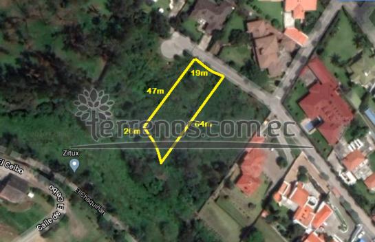 Terreno de venta en Cumbaya 1.147m2, Urbanización Portal de Cumbaya.