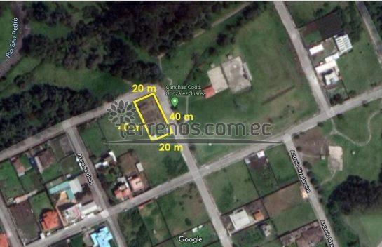 Venta de Terreno, Los Chillos 800 m2 urbanización Gonzalez Suarez, Amaguaña