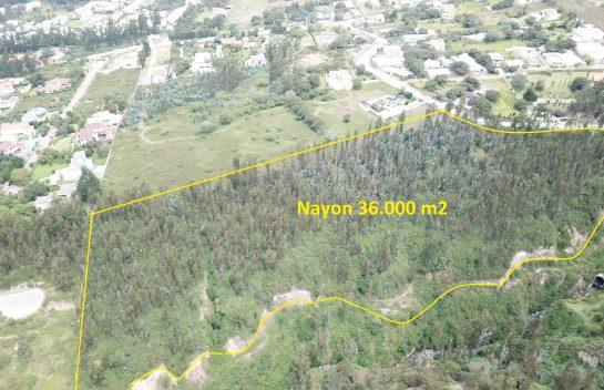 Venta de terreno en Nayón, 36.200 m2, Via antigua a Cumbayá
