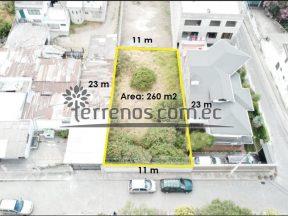 Terreno en venta, 260 m2, Ponceano Bajo, calle Tomasa Mideros.