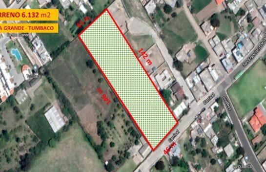 Terreno en Venta, Tumbaco 6.132 m2 Tola Grande Ruta Viva