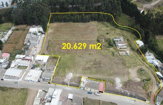 Terreno de venta en Tabacundo, 20.629 m2, Parte Alta del Sector El Calvario cerca al parque Central