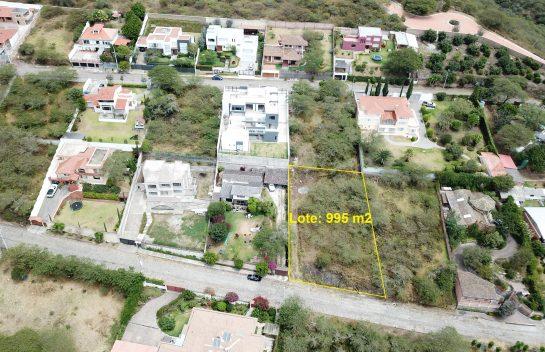 Tumbaco 995 m2 urbanización Algarrobos de la Viña, Chaquiñan