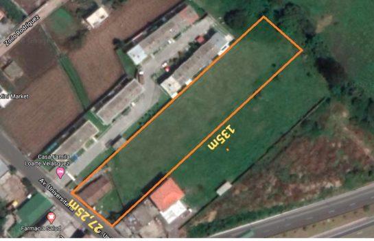 Terrenos de venta en Tumbaco 3.900 m2 avenida Universitaria, Junto a la Ruta viva