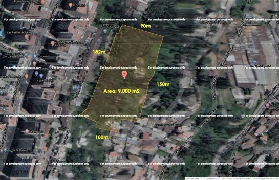 Terreno de venta en Guapulo, 11.600 m2. Urbanización privada, sector González Suárez