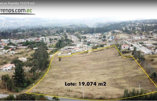 Terreno en venta Puembo 20.465 m2 Interoceánica, Ruta viva