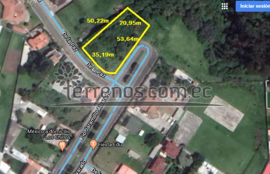 Terreno de Venta en Conocoto 1.620m2, Sector Rivera, Valle de los Chillos.