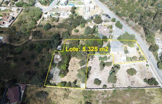 Terreno de venta, Nayón, 5.325 m2 en la Manuela Saenz ideal para proyecto inmobiliario.