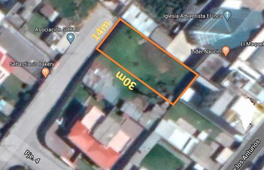 Terreno de Venta en San Isidro del Inca 449 m2, Cerca Solca, Embajada Americana
