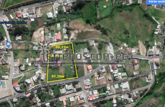 Terreno de venta en La Merced 7.930m2, San Rafael, Valle de los Chillos