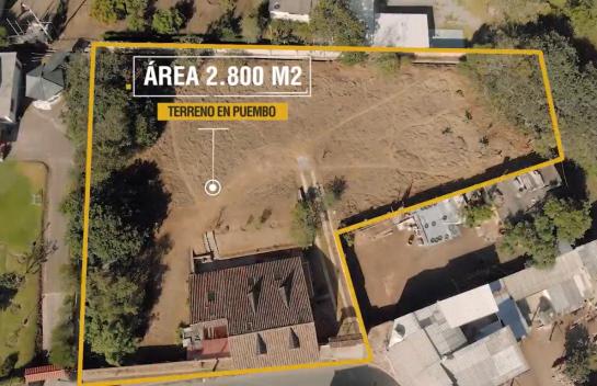 Terreno de venta en Puembo 2.800m2 por la cruz de piedra.