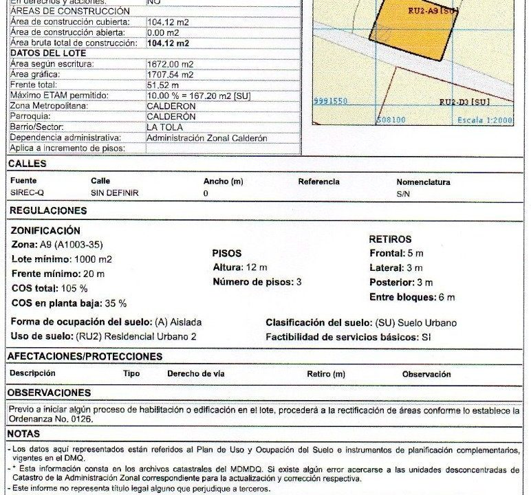Irm 8.321 m2 Calderon 1