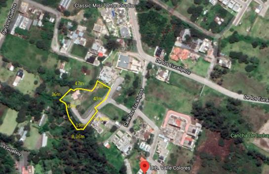 Terreno de venta en Nayon 3.014m2, Urbanización Valle Colores.
