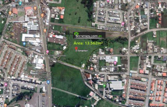 Venta de Terreno, Sangolqui 13.562 m2. Sector Colibrí