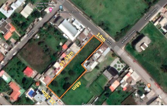 Terreno de Venta en Tumbaco, 1792 m2, La Morita