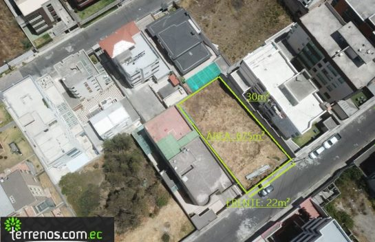 Venta de Terreno, 675m2, Ponceano Alto, sector Supermaxi, Av. Real Audiencia.