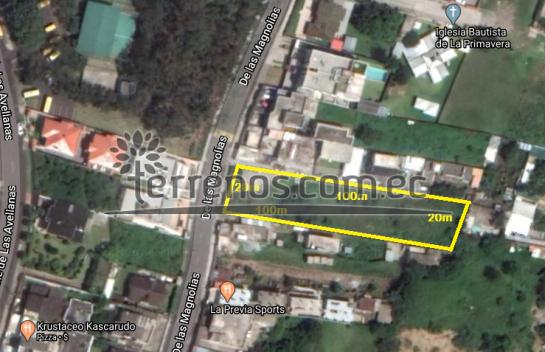 Terreno de venta en Cumbaya 2.000m2, La Primavera, Ruta Viva.