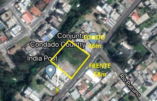 Terreno en venta Condado 2.663 m2 calle Juan Procel, frente Urb. El Condado