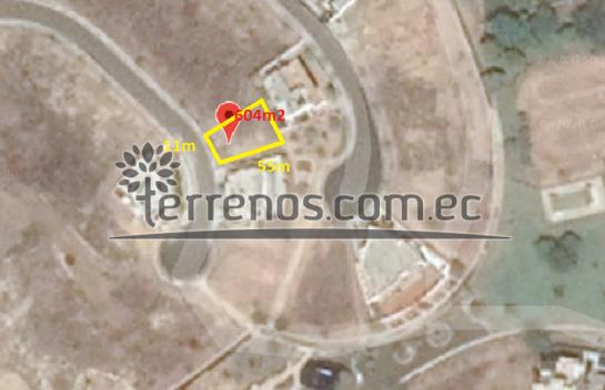 Terreno en Venta, Manta 604 m2 urbanización Ciudad del Mar, Ruta Spondylus, vía San Mateo