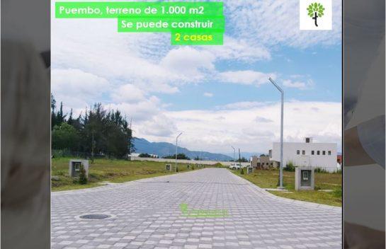 Terreno de Venta Lote #18 de 1.000 m2 en Puembo Urb. de Lujo