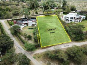 Terreno de Venta en Tumbaco 1.800 m2, sector Collaquí, Lotización el Edén.