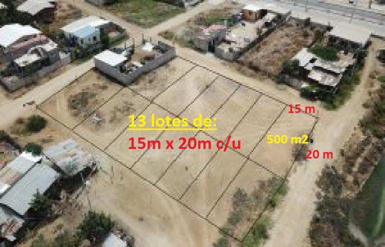 500 m2 - Bahía 13 lotes