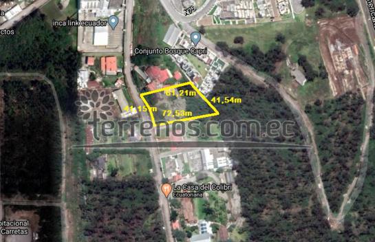 Terreno de Venta en Carcelen 2.600m2, La Delicia, a dos cuadras de la Av. Eloy Alfaro.
