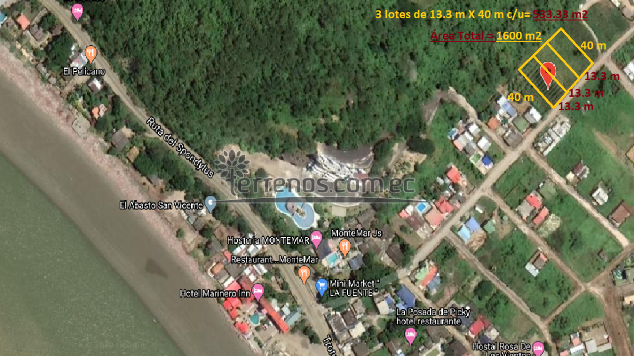 533.3 m2 X 3= 1600 m2 - San Vicente