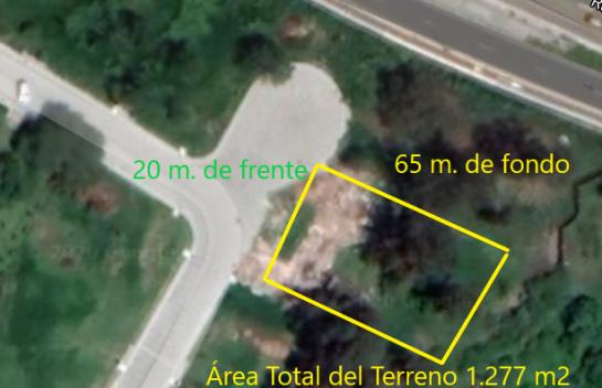 Terreno en venta en Tumbaco, 1.277 m2. Urbanizacion Pacho Salas, Ruta Viva