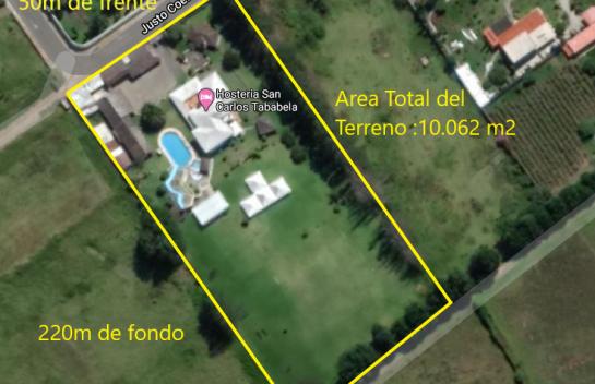 Terreno de venta en el Centro de Tababela 10.062 m2, Ideal para Hostería