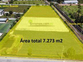 Terreno de venta en Tababela 7.273 m2, sector Guambi.