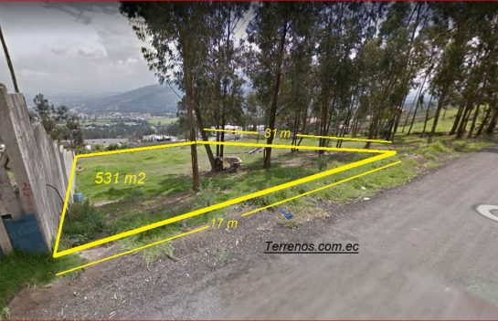 Terreno de Venta en Cumbayá 531 m2, San Patricio Alto, cerca de la Ruta Viva