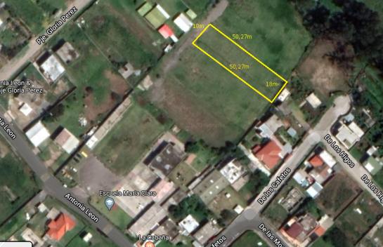 Terreno de venta en Tumbaco 905m2, La Morita, Ruta Viva.