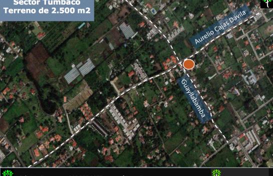 Terreno de Venta en Tumbaco 2.500 m2 esquinero