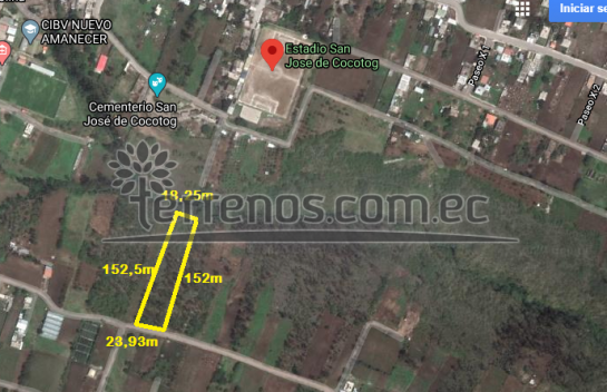Terreno de venta en San Miguel de Cocotog 3.343m2, Zambiza