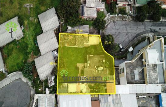 Venta de terreno 868 m2 sector San Gabriel, ideal para proyecto.