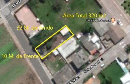 Terreno de venta en Tababela 320 m2 cerca al parque central