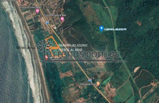Terreno de venta en Ayampe 30.410m2, Manabí, Cantón Puerto López, Al pie de la Carretera