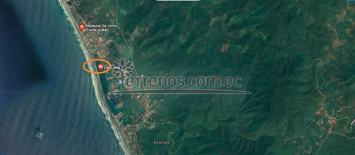 Ayampe via satelite, cerca de Tunas