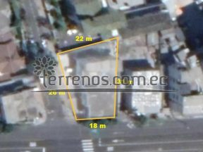 Terreno de venta esquinero sector Mariscal 600 m2. Av. 6 de diciembre