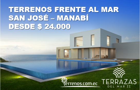 Terreno de venta 200 m2  Urbanizacion Terrazas del Mar II, Playa San Jose, Ruta del Spondylus