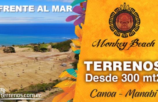 Venta de lote, 300 m2 Urbanización Monkey Beach, Canoa, Ruta del Spondylus